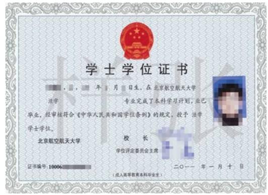 北京航空航天大学远程教育学士学位证书